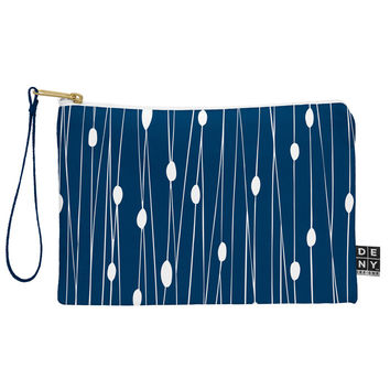 Heather Dutton Navy Entangled Pouch