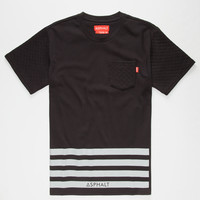Ayc Quilt Block Mens Pocket Tee Black  In Sizes