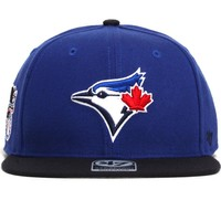 Toronto Blue Jays Sure Shot Two-Tone Snapback Hat Blue / Black