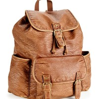 Faux Leather Rucksack