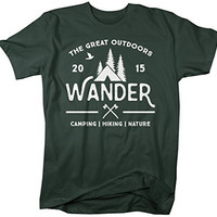 Shirts By Sarah Men's Wander Camping T-Shirt Nature 2015 Camper Hipster Shirts