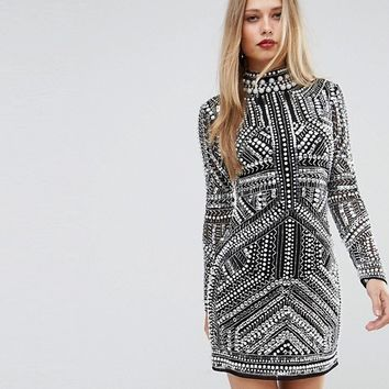 ASOS Armour Mesh Mini Bodycon Dress at asos.com
