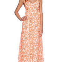 Pia Pauro Ladies Halter Dress in Orange