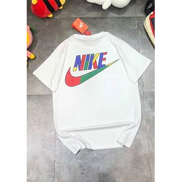 NIKE 2018 new hit color logo short sleeve sports short-sleeved T-shirt F-XMCP-YC white