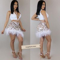 DCCKBTW LYA SKIRT SET (IVORY/GOLD)