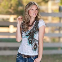 Cowgirl Peacock Top