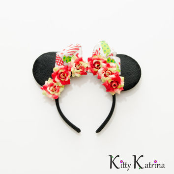 Customizable Christmas Mouse Ears Headband, LED Headband, Minnie Mouse Ears, Minnie Ears, Disney Bound, Disney Headband, Disney Cosplay