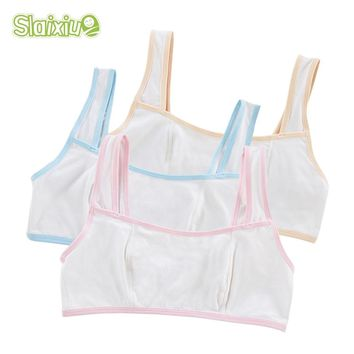 Girls Underwear For Sport Wireless Small Training Puberty Bras Cotton Baby Girls Bra For Kids Solid Color Undergarment Clothes