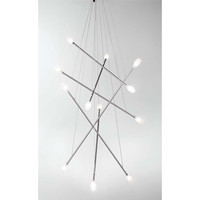 LBL Lighting HS2061205FRSC Batons Twelve-Light Chandelier