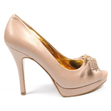 Nine West Womens Pump Open Toe NWTHISTLE NATURAL