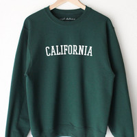 California Oversized Sweater - Dark Green