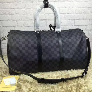 cc auguau leather louis vuitton luggage 55 CM