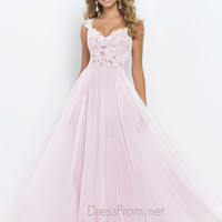 Light Pink Blush Prom Dress 9986