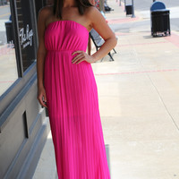 Hot Pink + Pleats {Dress}