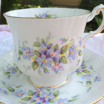 Vintage Paragon English Flowers Violet Pattern Cottage Style Tea Party Thank You or Housewarming Gift Inspiration