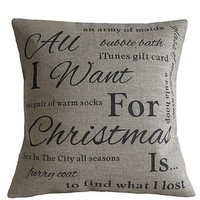 Personalised Christmas Wish List Cushion
