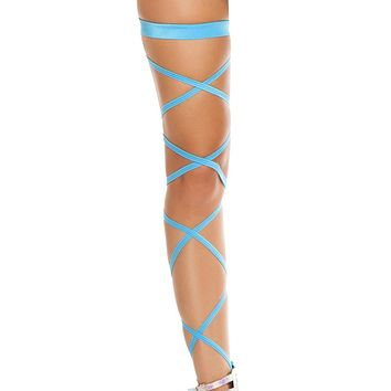 Turquoise Solid Leg Wraps