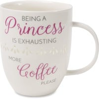 Being a princess is exhausting, more coffee please Pierced Porcelain Cup