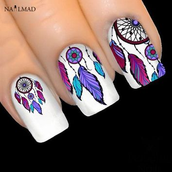 1 sheet NailMAD Dreamcatcher Stickers Feather Nail Art 3D Sticker Dream Cather Nail Stickers