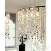 Wholesale Remote Light - Buy Modern Fashion K9 Crystal Chandelier Study Room Dining Room Pendant Lamp L40*W15*H100CM, $236.16 | DHgate