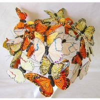 Graceful Butterfly Bouquet in shades of Orange Yellow by idotakeu