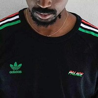 ADIDAS & PALACE joint name three bars towel couple short sleeve F-AA-XDD Black