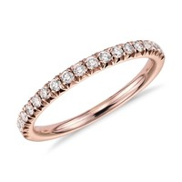 French Pavé Diamond Ring in 14k Rose Gold (1/4 ct. tw.)   Blue Nile
