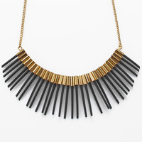 Handmade unique African modern style Silicon strands and gold coated pipes necklace