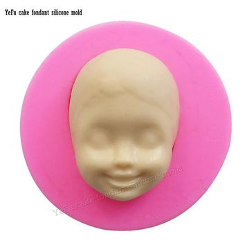 3D Baby face cooking tools Silicone Mold Cake Chocolate Candy Jelly Baking Mold Fondant Cake Decorating Tools F0885