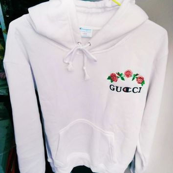 Gucci X Champion Hoodie Varsity Made In Mexico Jacket Sweater hooded Bape Jacket Hip Hop-1