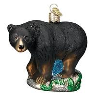 Old World Christmas Black Bear Glass Blown Ornament