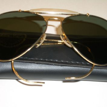 58[]14mm B&L RAY BAN L0216 G15 WRAP-AROUNDS OUTDOORSMAN AVIATOR SUNGLASSES MINT