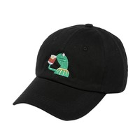 Lovely Baseball Cap Unisex Hat The Frog Sipping Drinking Tea Baseball Dad Cap Beautiful Embroidered Cotton Cap for Men Women