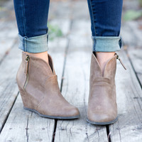 Wedge Bootie Tan