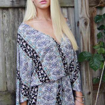 Mystic Sea Wrap Romper
