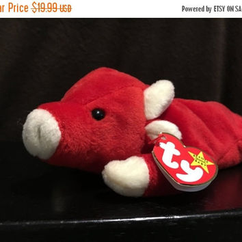 "5 DAY SALE (Ends Soon) 1995 Rare Original ""Snort"" Beanie Baby"