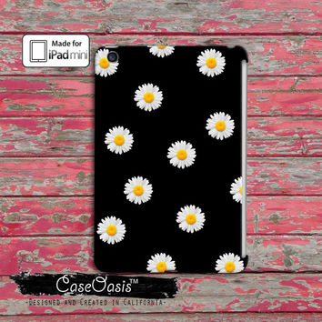 Daisy Flower Yellow Pattern Cool Cute Tumblr Black Custom iPad Mini and iPad Mini Retina Case Cover