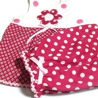 Baby Girl Clothes - Baby Summer Outfit - Baby Pantaloon Set - Baby girl Suntop and Pantaloons