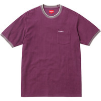 Supreme: Ribbed Pocket Tee - Burgundy