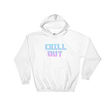 Chill Out Hooded Sweatshirt White