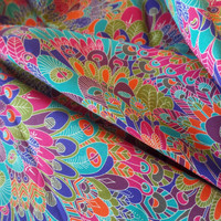 Liberty Art Fabrics Tana Lawn Cotton Eben Multicolor Feathers Print per Half Yard
