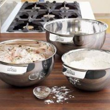 All-Clad Stainless Steel 3-Piece Mixing Bowl Set