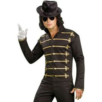 Michael Jackson Men's  Military Jacket Costume Black