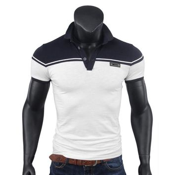 Brand  Casual Polo Shirt Lapel Short Sleeve Colored Cotton Men Tops Polo  men's shirt short collar cotton  polo ralphmen horse