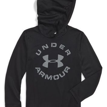 Under Armour 'Word' Raglan Sleeve Thermal Hooded T-Shirt (Toddler Boys & Little Boys) | Nordstrom