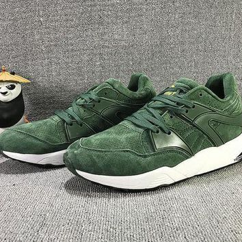 PEAPON3A VAWA Puma Trinomic Blaze Suede Mid-High Casual Shoes Sneaker Green