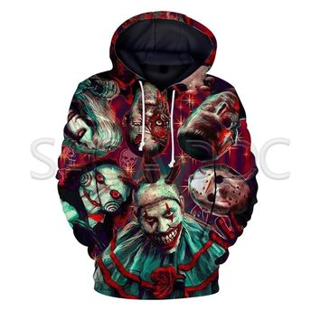 Halloween Killers Chuncky/Freddy/Jason 3D Print Fashion Hoodies