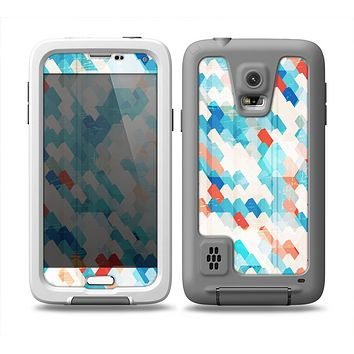 The Modern Abstract Blue Tiled Skin Samsung Galaxy S5 frē LifeProof Case
