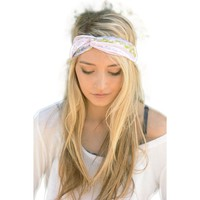 Bohemian Twist Head Band, Pink