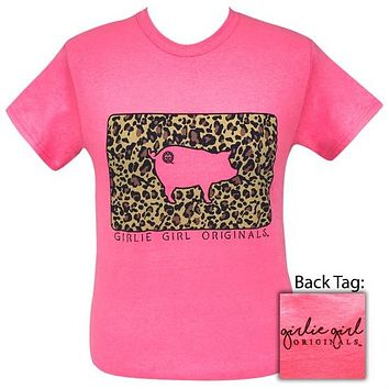 Girlie Girl Originals Preppy Leopard Pig T-Shirt